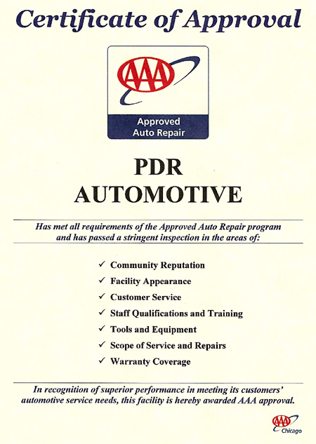 Copy of AAA Certificate of Approval